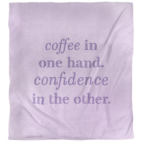 Coffee and Confidence Quote Single Duvet Cover