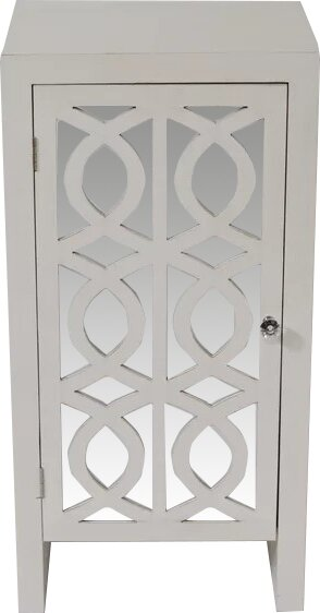 Gerry Cabinet with Mirror Accent Cabinet by House of Hampton
