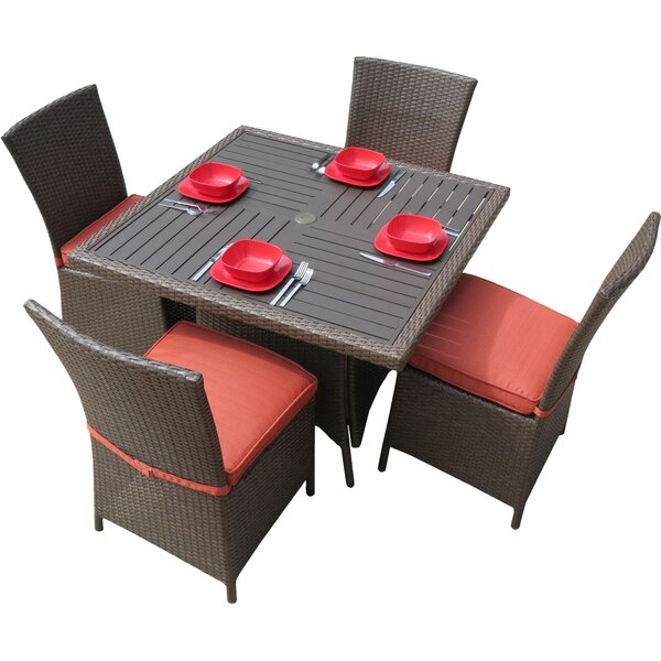 Salinas 5-Piece Dining Set with Cushions by Creative Living