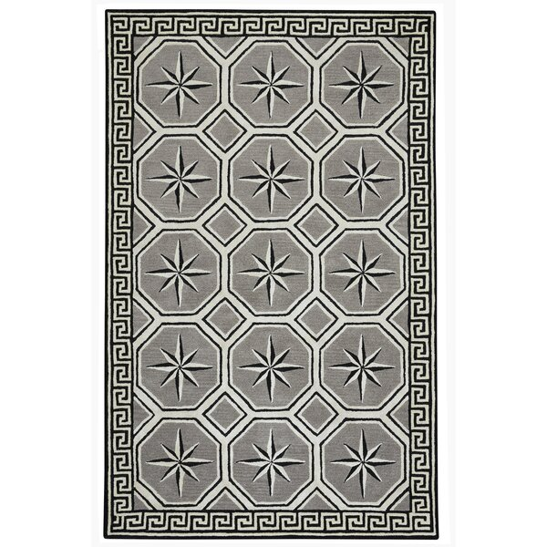 Wieland Hand-Tufted Gray Area Rug by Breakwater Bay