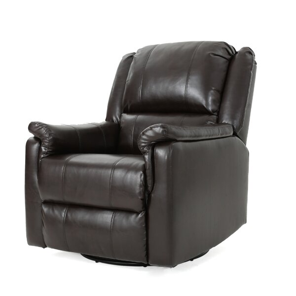Neoma Upholstered Manual Swivel Recliner