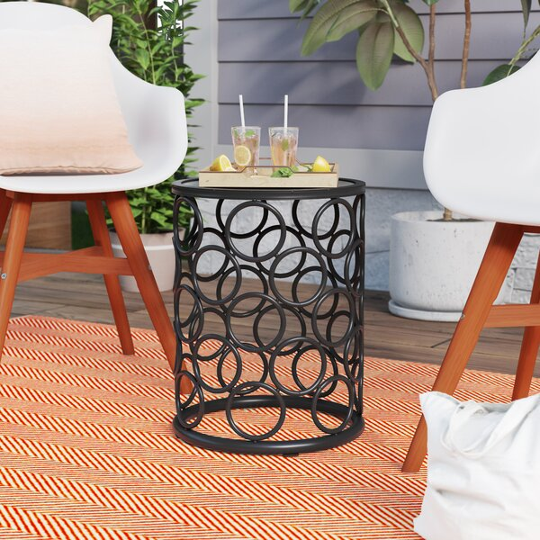 Melcher Iron Side Table by Wrought Studio