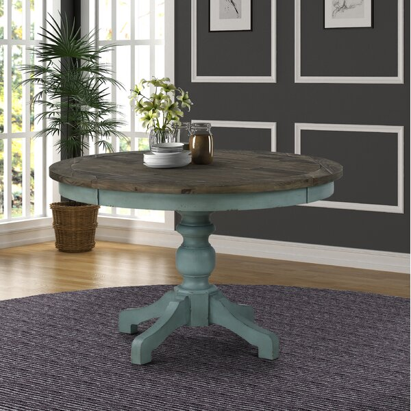 Round Two Tone Dining Table Wayfair