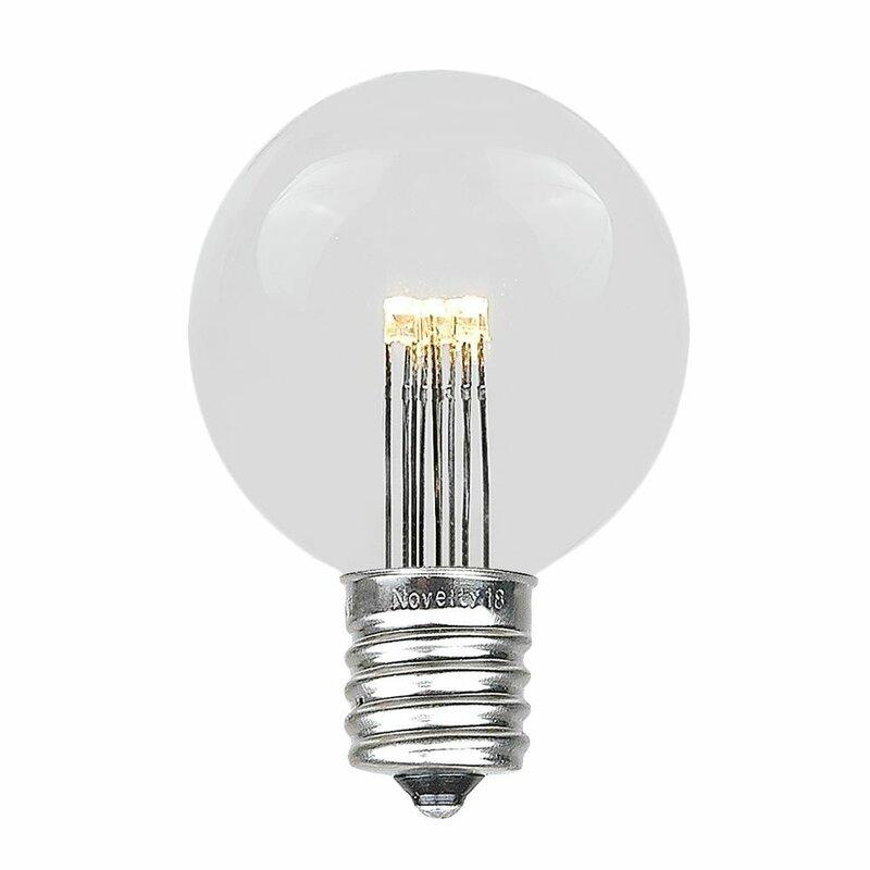 Novelty Lights 25 Watt Equivalent G50 Led Non Dimmable Light Bulb E17 Intermediate Base Wayfair