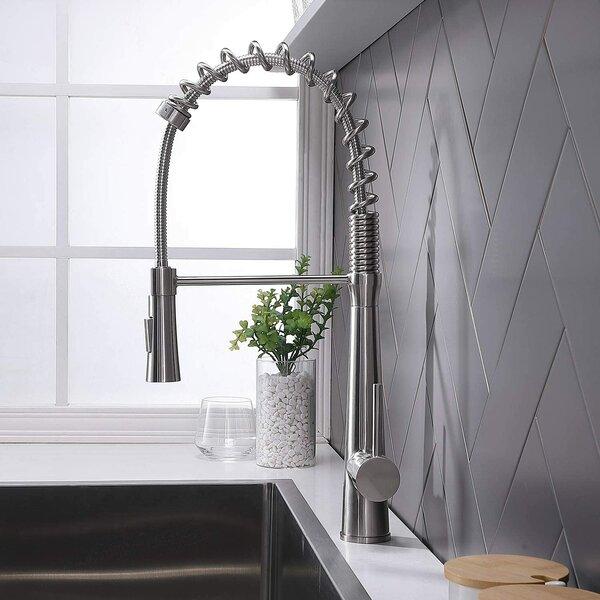 Pull Down Single Handle Kitchen Faucet by Comllen Comllen