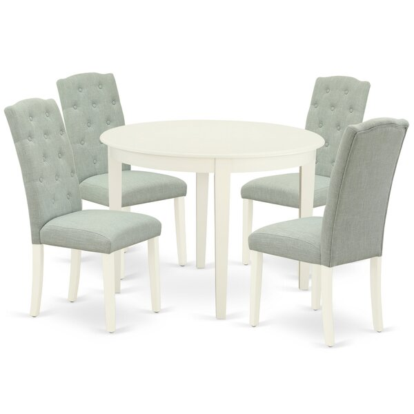 Craiganboy 5 Piece Solid Wood Dining Set By Winston Porter