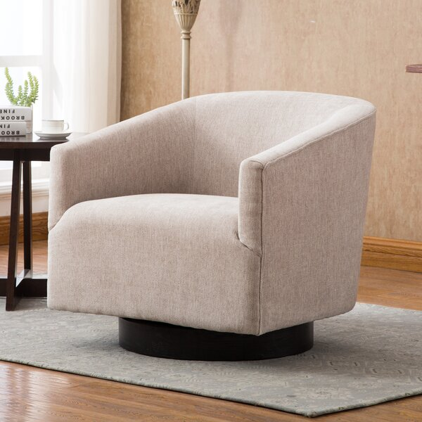 Kylie Swivel Barrel Chair by Modern Rustic Interiors