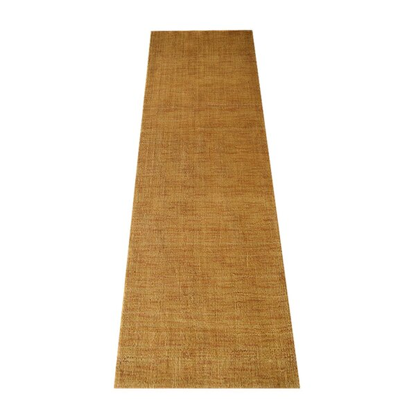 Ry Hand-Knotted Wool Gold Area Rug by Latitude Run