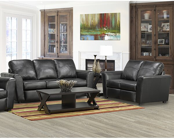 Lidiya Leather 2 Piece Living Room Set by Red Barrel Studio