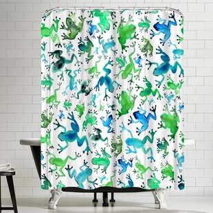Trend Elena Oneill Tree Frogs Shower Curtain ByEast Urban Home