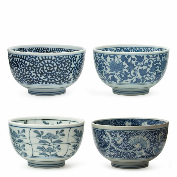 4-Piece 15 oz. Sometsuke Bowl Set by Miya Company