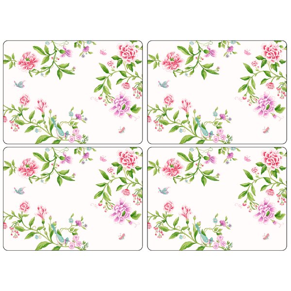 Porcelain Garden Placemat (Set of 4) by Pimpernel