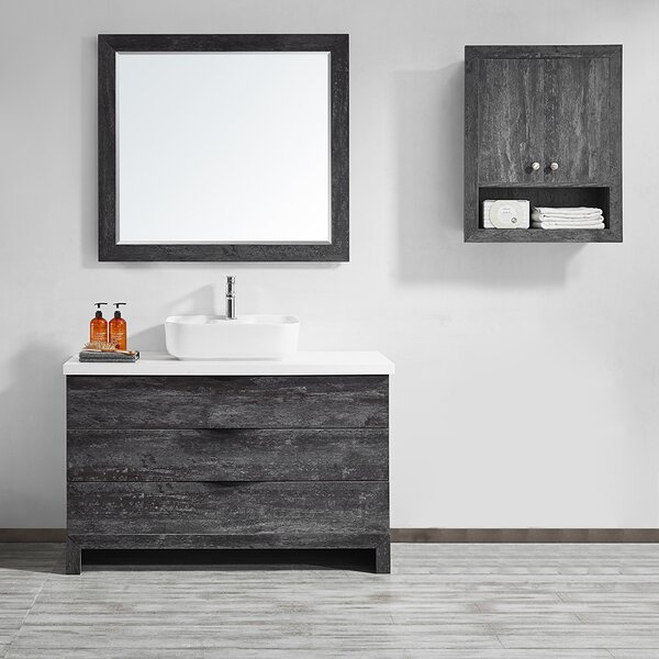 Kelsey 48 Single Bathroom Vanity Set with Mirror by Union Rustic