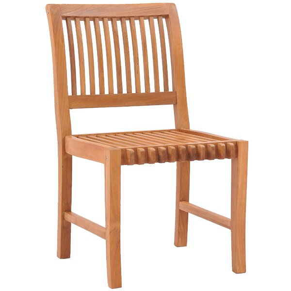 Knouse Teak Patio Dining Chair by Union Rustic