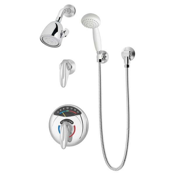 Safetymix Visu-Temp Thermostatic Complete Shower System with Rough-in Valve by Symmons Symmons