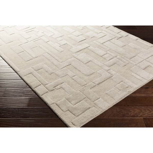 Dionne Hand-Tufted Gray Geometric Area Rug by Ebern Designs