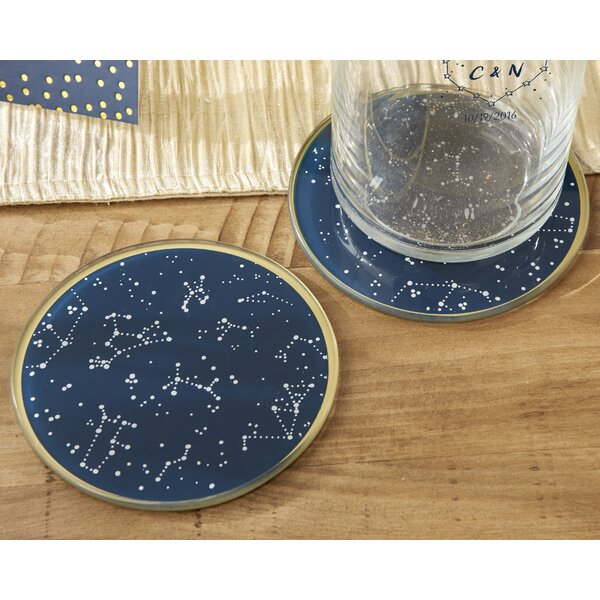 Under the Stars Glass Coaster (Set of 24) by Wrought Studio