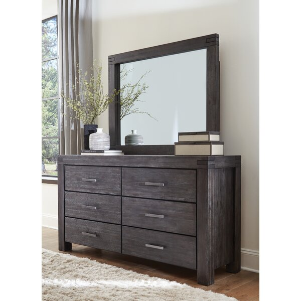 Palo Alto 6 Drawer Double Dresser with Mirror by Loon Peak