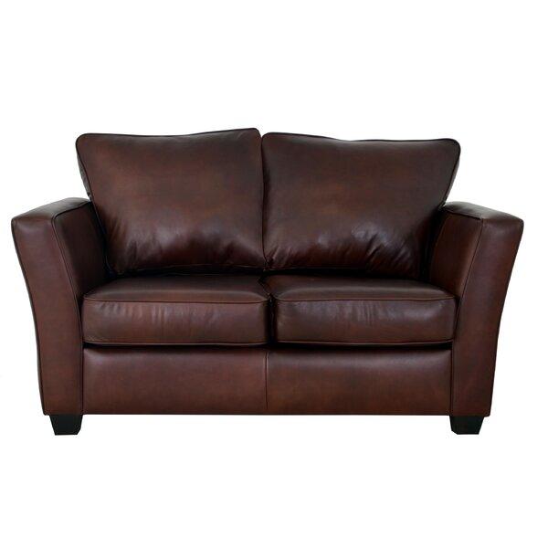 Home & Garden Bridgeport Leather Loveseat