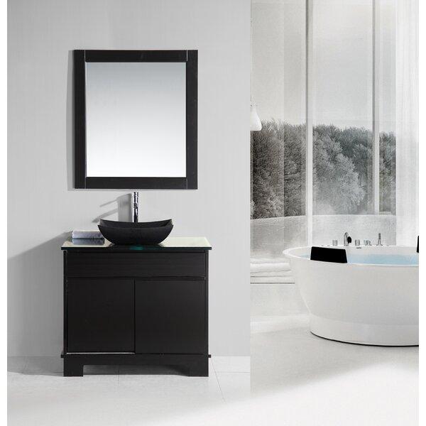 Penton 36 Single Bathroom Vanity Set with Mirror by dCOR design