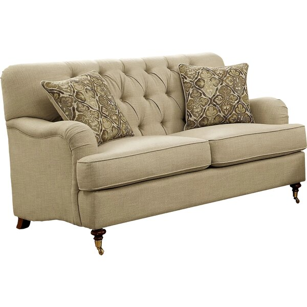 Broadway 61'' Recessed Arm Loveseat By Three Posts
