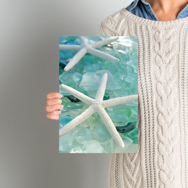 Seaglass 1 Photographic Print on Wrapped Canvas by East Urban Home
