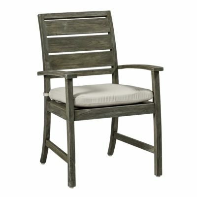 Charleston Teak Patio Dining Arm Chair with Cushion by Summer Classics