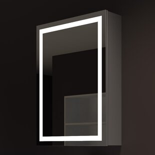 Read Reviews Harmony 24 x 32 Surface Mount Medicine Cabinet with 3 Adjustable Shelves and LED Lighting ByParis Mirror