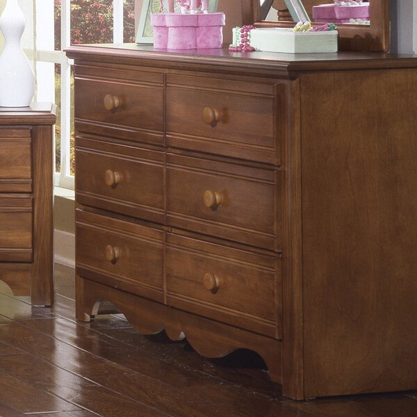 Crossroads 6 Drawer Double Dresser by Carolina Furniture Works, Inc.