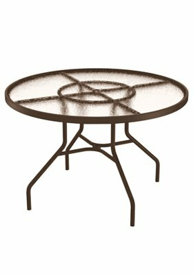 Site Furnishings Glass Dining Table by Tropitone