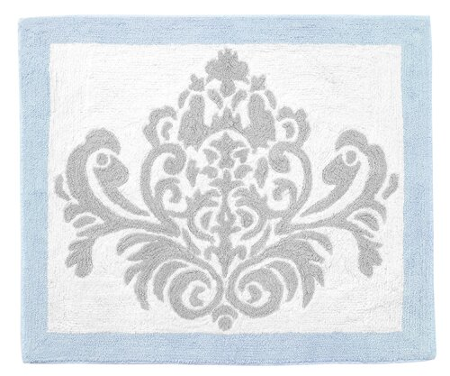 Avery Floor Gray/White Area Rug by Sweet Jojo Designs