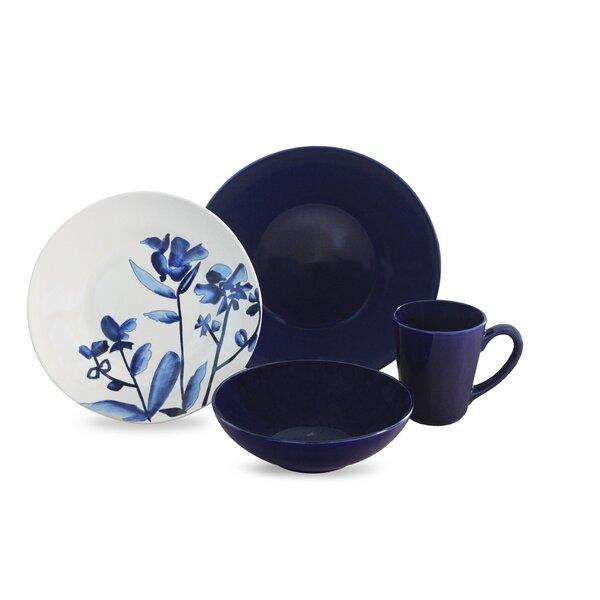 Lapis Fields 16 Piece Dinnerware Set, Service for 4 by Baum