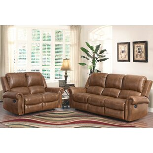 Bitter Root 2 Piece Leather Living Room Set by DarHome Co