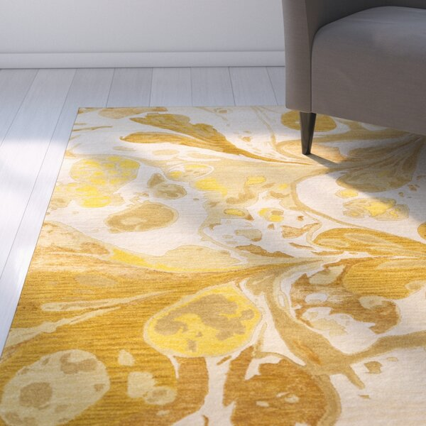 Asheville Beige/Gold Area Rug by Latitude Run