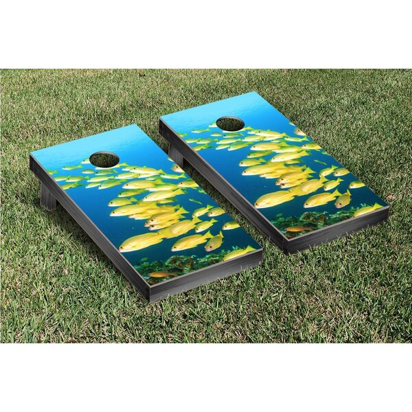 Fish Themed Cornhole Game Set by Victory Tailgate