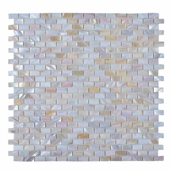 Seashell Mosaic Tile in Glazed Pearl white by Legion Furniture