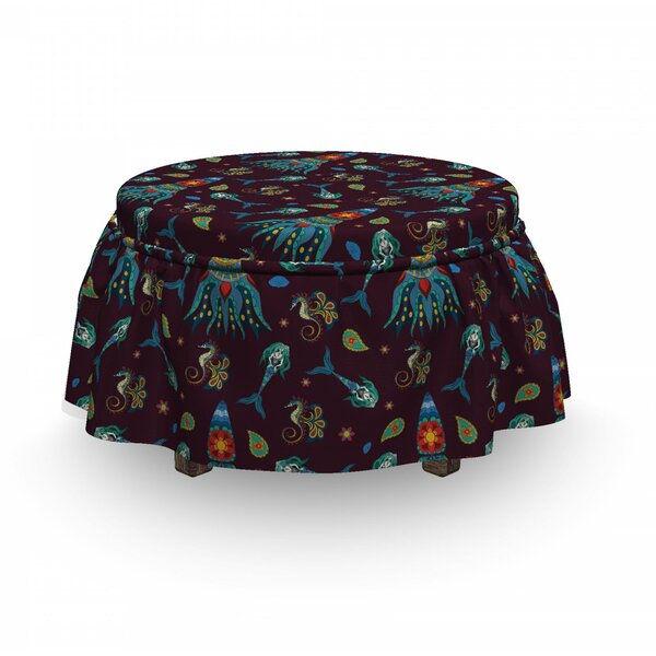 Mermaid Ottoman Slipcover (Set Of 2) By East Urban Home