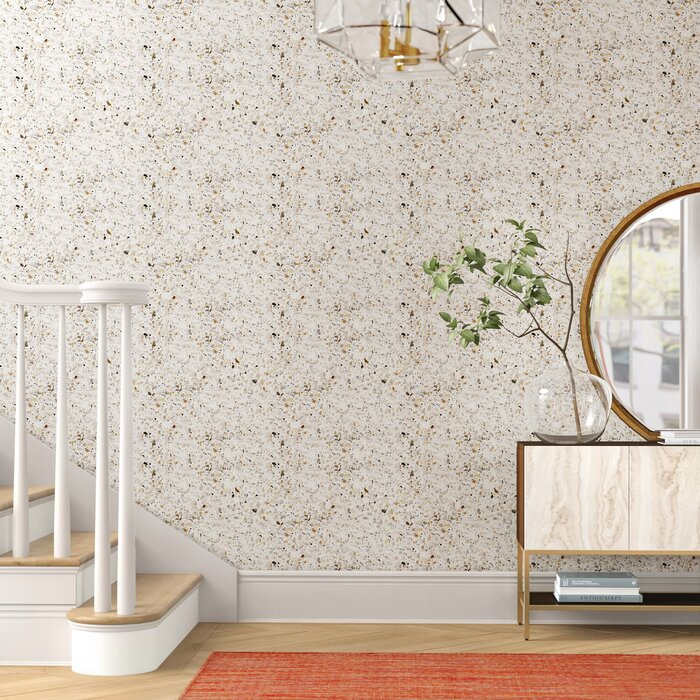 Terrazzo 18 86 L X 21 W Peel And Stick Wallpaper Roll