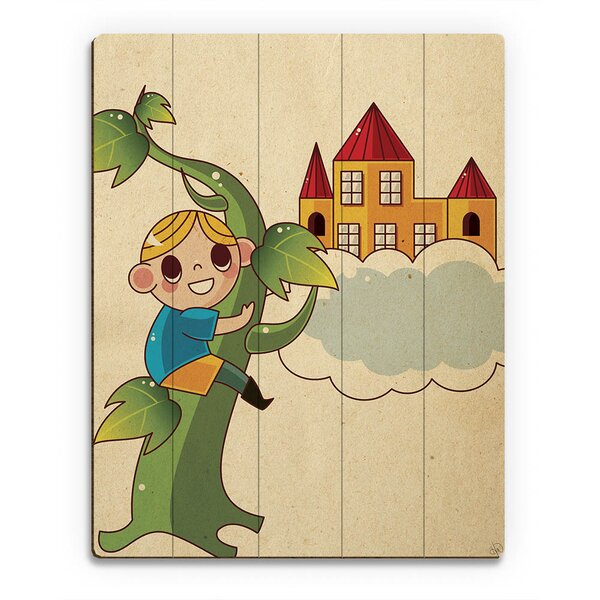 Jack and the Bean Stalk Graphic Art on Plaque by Click Wall Art