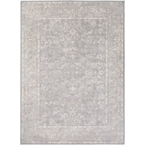 Kimbolton Gray/Ivory Area Rug by Ophelia & Co.