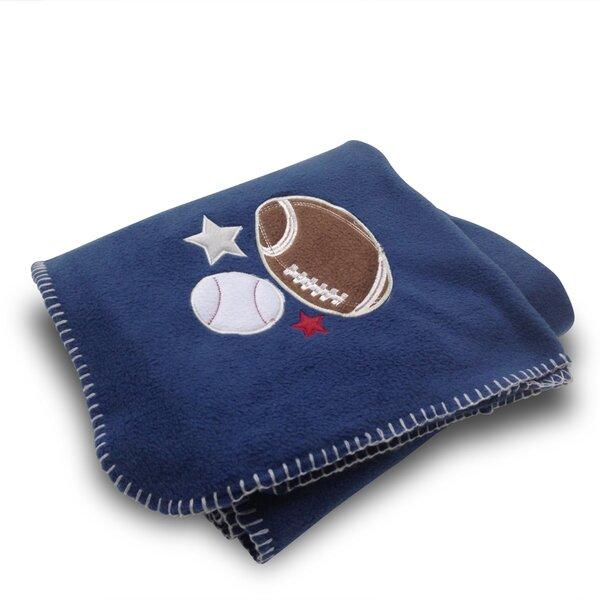 Football/Baseball Fleece Blanket by Beco Home