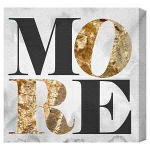 'More Love' Textual Art on Canvas by Oliver Gal