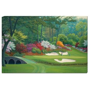 12 Hole At Augusta National by Charles White Graphic Art on Wrapped Canvas by Hadley House Co