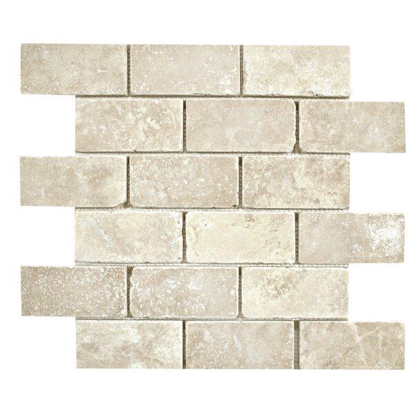 2 x 4 Mosaic Tile in Ivory by Ephesus Stones