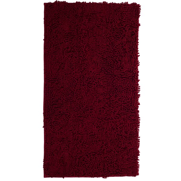 High Pile Burgundy Area Rug by Lavish Home