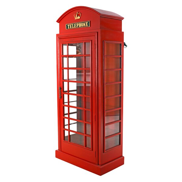 British Telephone Booth Display Accent Cabinet by Design Toscano Design Toscano