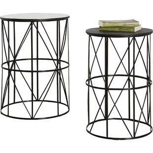 Modern contemporary lucite nesting tables allmodern slifer 2 piece nesting tables watchthetrailerfo
