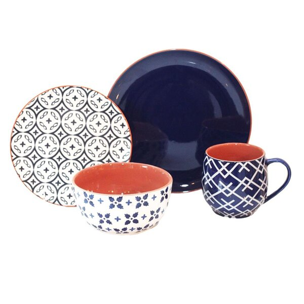 Corsair 16 Piece Dinnerware Set, Service for 4 by Baum