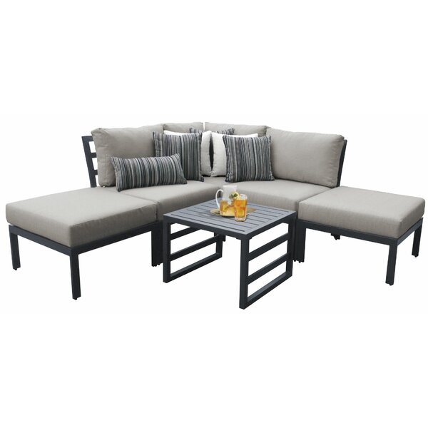 Benner Outdoor Aluminum 6 Piece Sectional Seating Group with Cushions by Ivy Bronx