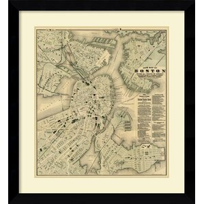 U0027Boston, Massachusetts, 1884u0027 By Tilly Haynes Framed Graphic Art. U0027